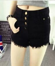 HIGH WAIST BLACK SHORT BUTTONS