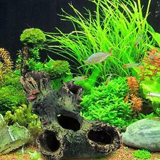 Stump Rockery Hideaway Hiding Cave Aquarium Fish Tank Aquarium Ornaments Decor