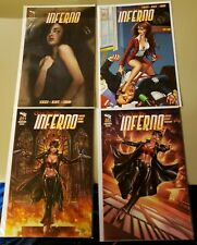 Grimm Fairy Tales Inferno # 1 2 3 4 Zenescope lot of 4 comic books