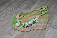 NINE WEST Hessian Wedge Platform sandals shoes Heels   UK 6 US8