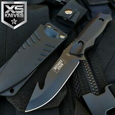 "8"" GUT HOOK SKINNER Tactical HUNTING Black Full Tang SURVIVAL KNIFE W/ SHEATH"