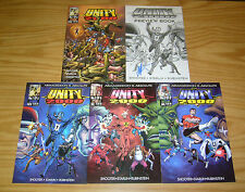 Unity 2000 #1-3 VF/NM complete series + preview book signed by jim shooter - set