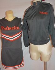 Real Cheerleader Uniform Youth Xl size 00 adult Orange Black palmetto Have Fun