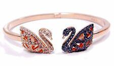 Facet Swan Bangle Medium Black White Mix Plating 2017 Swarovski Jewelry 5289535