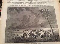 74-8 ephemera 1834 original picture Sandstorm in the sahara