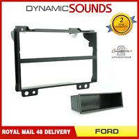 CT24FD07 Black Single Din Fascia Adapter Fitting Panel for Ford Fiesta / Fusion