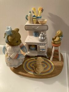 """Cherished Teddies RARE Dorothea And Missy CT1101 2010 """"lots Of Lovin In The Oven"""