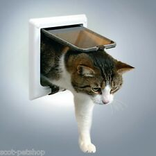 NEW Trixie Cats Flap With Tunnel 4 Way Locking White