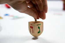 1 x Wooden Jewish DREIDEL ~ ~ ~Hanukkah Draidel with free 'Dreidl Instructions'