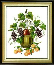 New~ Needlepoint  suppliers chart ~Counted Cross Stitch Kits-Grapes and Wine