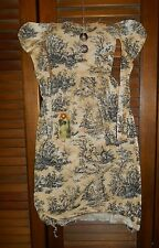 Prim WALL DRESS w/hanger Primitive Decor GREY TOILE MOURNING STYLE DRESS Grungy