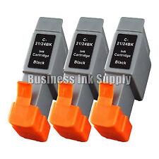 3 BK Ink Cart BCI-21 CANON BJC 2120 4100 4300 323 F 411