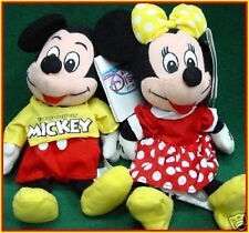 DISNEY Store DS US '90s Spirit of MICKEY & MINNIE MOUSE Bean Bags PLUSH SET MWMT
