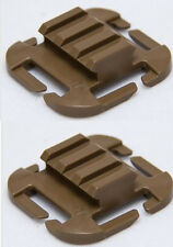 100% ITW Nexus QASM Molle/PALS Picatinny M1913 RAMP Coyote Brown Set of 2