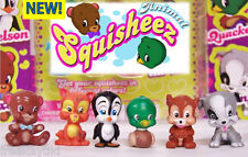 """NEW 1"""" Animal Squisheez Squishy Squishies Fully Painted Set Lot of 6 Party Favor"""