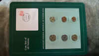 Coin Sets of All Nations Yugoslavia w/card UNC all 1982 1 Dinara 1983