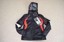 New $830 Colmar womens ski jacket black waterproof Size 8 medium Made In Italy