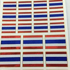 21 Assorted Mini Thai Flag Sticker Kids New Project Scrapbook Envelope Sealing