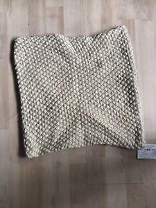 John Lewis Beige Knit Cushion Cover