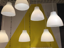 2 X IKEA Melodi White Ceiling Pendant Lights 28cm