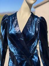 Karen Millen Metallic Velvet Dress UK10/US6