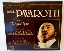 Luciano Pavarotti Sings the Great Operas Live 4 CD Set La Traviata I Lombardi
