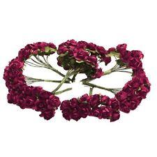 144 pz Mini fiori carta rosa di nozze per bomboniera artigianale (Rosso) M4W8