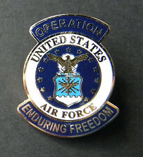 OPERATION ENDURING FREEDOM USAF US AIR FORCE LAPEL PIN BADGE 1 INCH