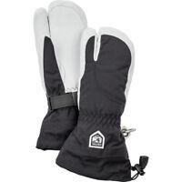 Hestra Army Leather Heli Ladies 3-Finger Ski Gloves, Black