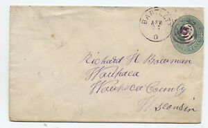 1870s Bartlett Ohio CDS and target on 3ct envelope [5775.83]