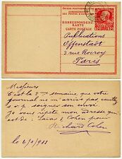 AUSTRIAN POST OFFICE in SALONICA 1908 STATIONERY CRETE TYPE 10c POSTCARD RATE VF