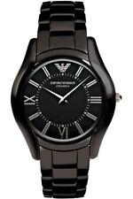 NWT Emporio Armani Women's AR1441 Ceramic Slim Black Dial Watch
