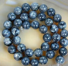 10mm Natural Black Labradorite Round Larvikite Gemstone Loose Beads 15''