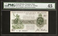 GREAT BRITAIN  Treasury Note 10 SHILLINGS (1918) P:350a EF