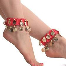 Belly Dance Anklet Accessories Chiffon&Coins Foot Chain Indian Gypsy Ankle Kette