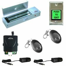 Door Buzzing System 1200lbs Magnetic Lock Wireless Kit with Multi-Entry