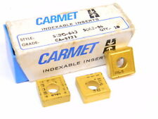 NEW SURPLUS 10PCS. CARMET  SNMG 643  GRADE: CA9721  CARBIDE INSERTS