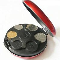 Creative Round Euro Coin Dispenser Storage Coin Purse Wallet Holders Storage New
