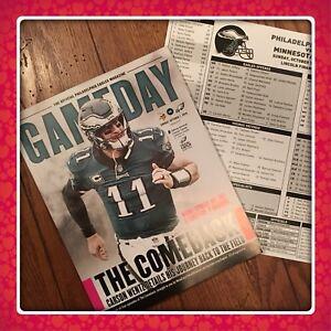 PHILADELPHIA EAGLES Gameday + Media Card 10.06.18 Vs Minnesota Vikings Free Ship