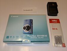 Blue Canon PowerShot SD1100 IS 8.0MP Digital Camera - COMPLETE IN BOX W/ EXTRAS