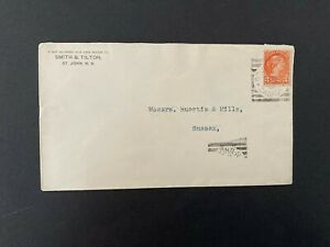 Postal History Canada 1898 Cover from St John's New Brunswick to Sussex Clear PM