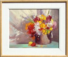 "Howard Carr ""Flower Arrangement"" Hand Signed Original Oil Painting on Canvas OBO"