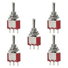 5 x (On) Off (On) Momentary Mini Toggle Switch SPDT Miniature for Model Railway