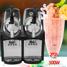 New ListingSlush Machine 2 Tanks Commercial Frozen Drink Beverage Maker Slushie Smoothie