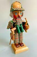 HTF Original Steinbach Volkskunst Sherlock Holmes w/ Pipe Nutcracker - Germany