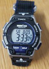 Timex Ironman Triathlon Shock Black Men's Watch Nylon Strap Band New Battery