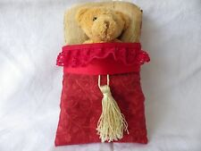 HANDMADE CHILD'S GIFT 'NITE-NITE TEDDY'  -Teddy in a Bed AUSSIE SELLER FREE POST