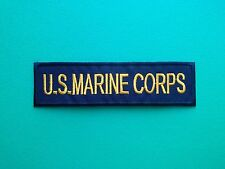 NOVELTY MILITARY U.S. FORCES SEW ON / IRON ON PATCH:- U.S. MARINE CORPS