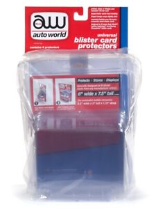 Auto World 1:64 Scale Blister Card Protectors AWDC013 (6 Pack)