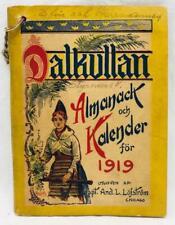 Dalkullan Almanack och Kalendar for 1919 Swedish Immigrant Almanac Chicago